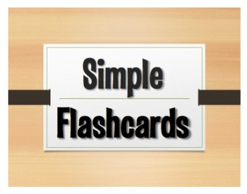 Simple Spanish Flashcards
