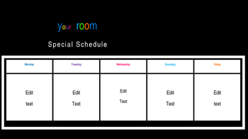Simple Specials Schedule