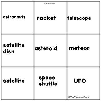 Simple Speech & Language Space Theme Unit