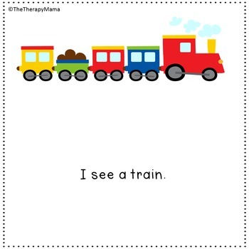 Transportation Sight Word Book & Kit Unit Things that Go