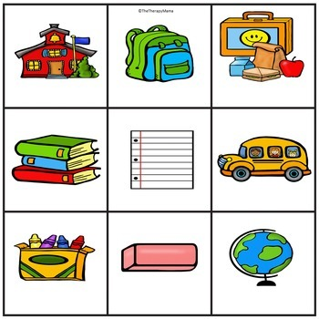 Back to School Unit Sight Word Book and Kit Easy Prep No Hassle