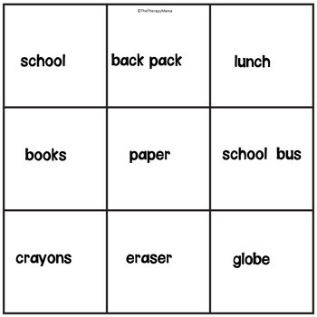Back to School Sight Word Emergent Reader