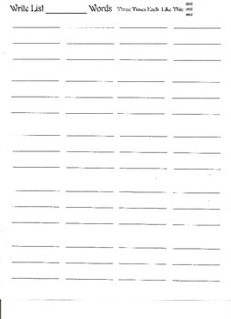 Simple Spelling Practice Sheets