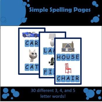 Simple Spelling Words Task