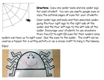 Simple Spider Craft