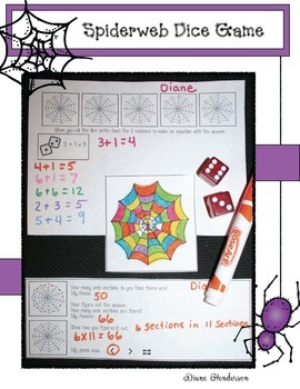 Simple Spiderweb Math Game