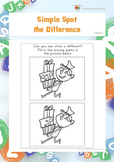 Simple Spot the Difference (Visual Perception Worksheets)