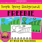 Simple Spring Backgrounds | FREEBIE