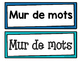 Simple Square Word Wall Headers and Aphabet Line in French