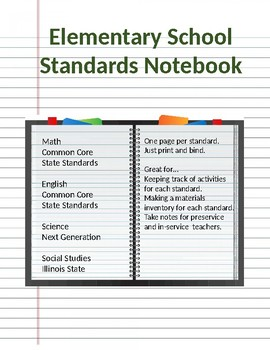 Simple Standards Notebook
