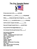 Simple Star-Spangled Banner Sheet  Word Bank & Definitions