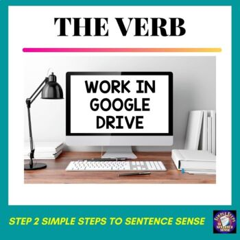 Simple Steps to Sentence Sense Step 2 Google Drive Resource