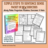 Simple Steps to Sentence Sense Packet of Grammar Worksheets