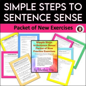 Simple Steps to Sentence Sense Grammar Worksheets Packet