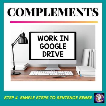 Simple Steps to Sentence Sense Step 4 Google Drive Resource