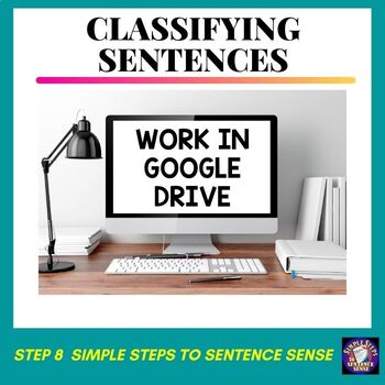 Simple Steps to Sentence Sense Step 8 Google Drive Resource