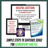 Grammar | Simple Steps to Sentence Sense Elementary for Di