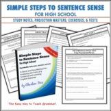 Simple Steps to Sentence Sense High School Grammar Worksheets
