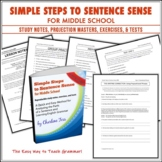 Simple Steps to Sentence Sense Middle School Grammar Worksheets