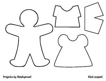 Simple Stick Puppet Page