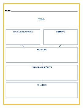 Simple Story Map Graphic Organizer