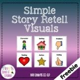 Simple Story Retell Visuals - Print + Google Slide