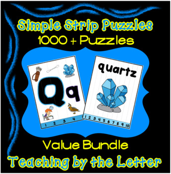 Simple Strip Puzzles Teaching by the Letter - 26 Letter Bundle - 1000 + Puzzles