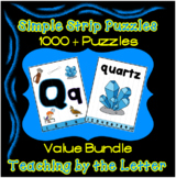 Simple Strip Puzzles Teaching by the Letter - 26 Letter Bu