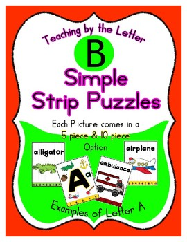 Simple Strip Puzzles - Teaching by the Letter - Focus Letter B