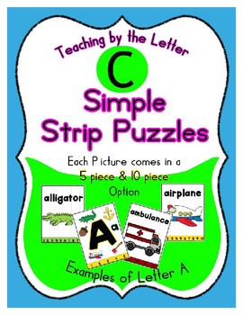 Simple Strip Puzzles - Teaching by the Letter - Focus Letter C