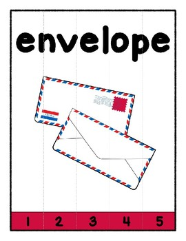 Simple Strip Puzzles - Teaching by the Letter - Focus Letter E