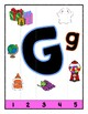 Simple Strip Puzzles - Teaching by the Letter - Focus Letter G