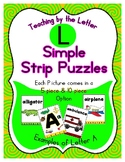 Simple Strip Puzzles - Teaching by the Letter - Focus Letter L