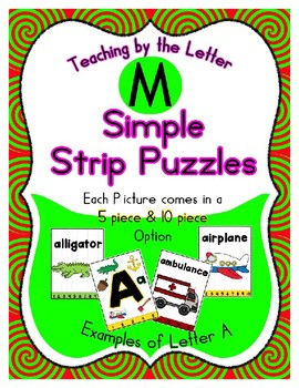 Simple Strip Puzzles - Teaching by the Letter - Focus Letter M