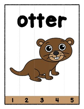Simple Strip Puzzles - Teaching by the Letter - Focus Letter O