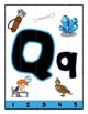 Simple Strip Puzzles - Teaching by the Letter - Focus Letter Q