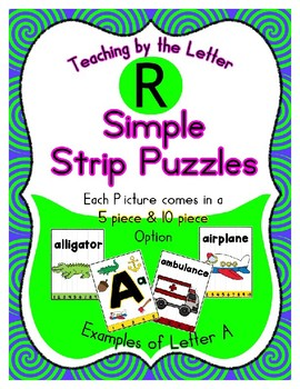 Simple Strip Puzzles - Teaching by the Letter - Focus Letter R