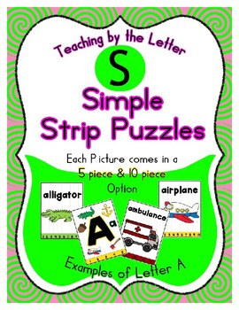 Simple Strip Puzzles - Teaching by the Letter - Focus Letter S