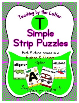 Simple Strip Puzzles - Teaching by the Letter - Focus Letter T