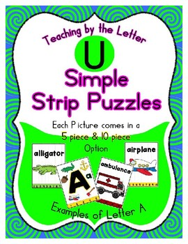 Simple Strip Puzzles - Teaching by the Letter - Focus Letter U