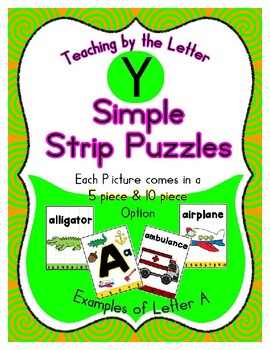 Simple Strip Puzzles - Teaching by the Letter - Focus Letter Y