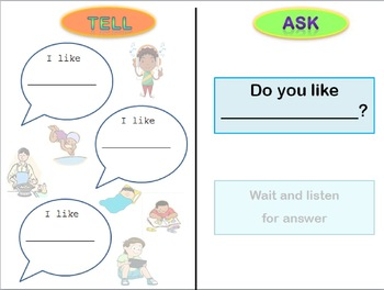 Simple Structured Conversation Activity - Asking and Telling