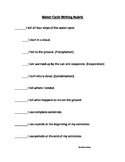 Simple Student Water Cycle Writing Checklist