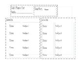 Simple Sub Plan Template -- Editable