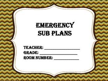 No Prep Sub Plans for the ELA Classroom