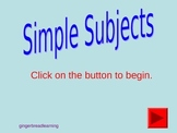 Simple Subject Powerpoint