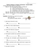 Simple Subject & Predicate Classwork (Worksheet)