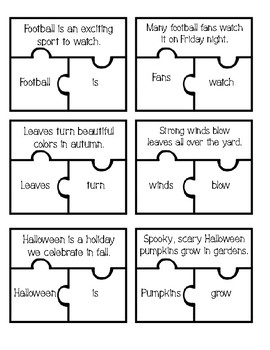 Simple Subject Simple Predicate Puzzles