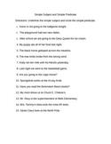Simple Subject and Predicate Worksheet.