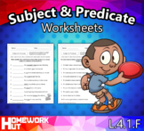 Distance Learning - Simple Subject and Predicate Worksheets